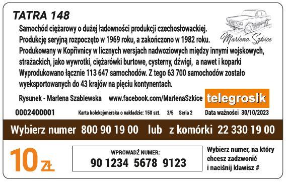 Tatra karta tył