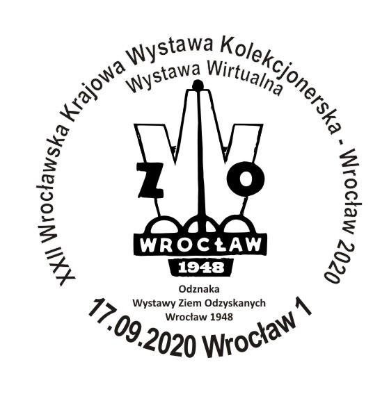 Datownik XXII Wrocławska Krajowa Wystawa Kolekcjonerska Wrocław 2020 krzywe